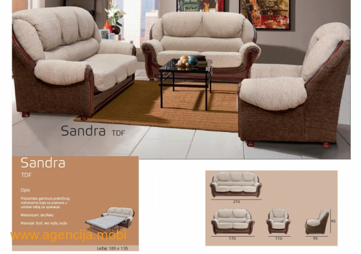 Sandra trosed dvosed i fotelja
