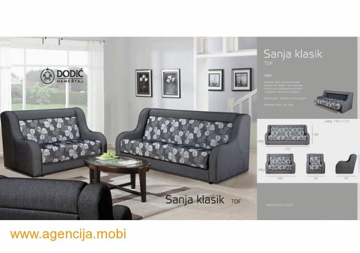 Sanja Klasik trosed dvosed i fotelja
