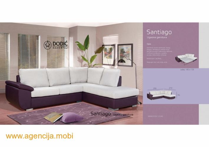 Santjago ugaona garnitura